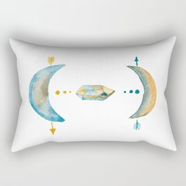 Meditating with crystals under the moon Rectangular Pillow
