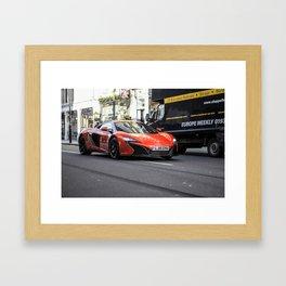 Orange McLaren 650S Framed Art Print