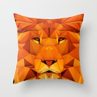 courage Throw Pillows featuring Courage by jenkydesign