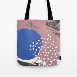Blue Hydrangea Gypsophila Abstract Tote Bag