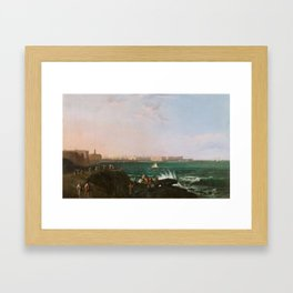 Manuel Barrón y Carrillo, View of Cádiz 1854 Framed Art Print