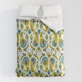 indian cucumbers balinese ikat print mini Comforters