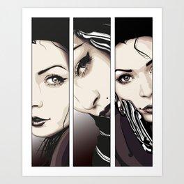 Miradas Art Print