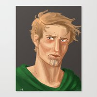 neil gaiman Canvas Prints featuring Neil by Alejandra Gonzalez