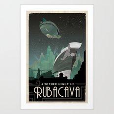 Grim Fandango Vintage Travel Poster - Rubacava Art Print