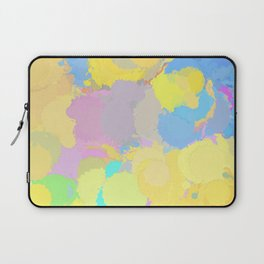 Colorful splatter, yellow-blue circles Laptop Sleeve