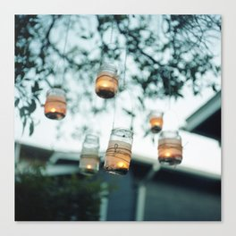 Jars of Candlelight Canvas Print