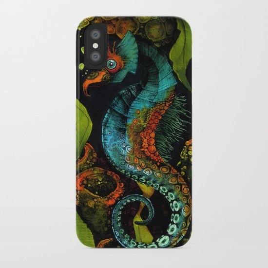 Seahorse in Blue iPhone Case
