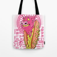 junk food Tote Bags featuring Junk Food by Tshirt-Factory