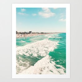 Pacific Beach scene from the Pier, San Diego, California Art Print