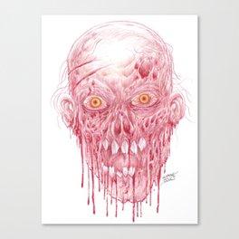 Flesh Eating Zombie Artwork Canvas Print