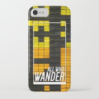 not all who wander iPhone & iPod Cases featuring All Who Wander by Wander Creative
