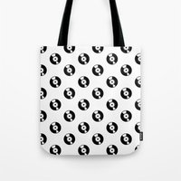 records Tote Bags featuring Pattern Records by Idan David