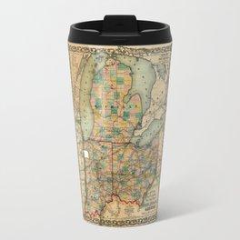 Map of Ohio, Indiana & Michigan (1859) Travel Mug