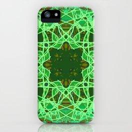 Ornate Green Celtic Mandala Rug iPhone Case