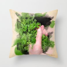 Parsley Painting Throw Pillow