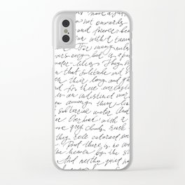 Script Text Book Page Letter Clear iPhone Case