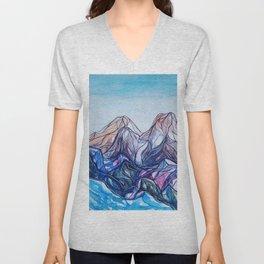 abstract landforms Unisex V-Neck