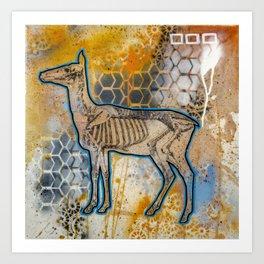 Deer Skeleton Art Print