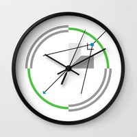 compass Wall Clocks featuring Compass by Omar VP