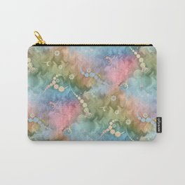 Satin Rainbow Pastel Floral Carry-All Pouch