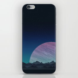 To lands untouched we travel. iPhone Skin