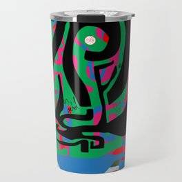 Hearts and Minds Are Not Straight Lines Never Let The Mind Go Asinine  Travel Mug