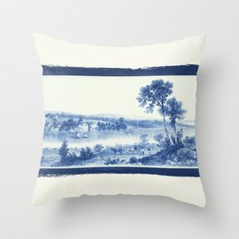 Lake Champlain 1850 (Cyanotype) Throw Pillow
