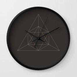 Geometric Dark Wall Clock