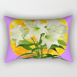 EASTER LILIES ON LILAC GOLDEN MOON Rectangular Pillow