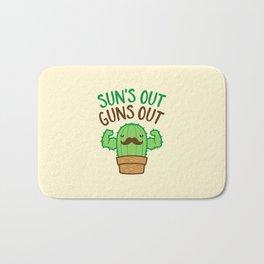 Sun's Out Guns Out Macho Cactus Bath Mat