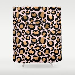 Animal print - pink copper Shower Curtain