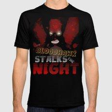The Bloodhawk Stalks The Night Mens Fitted Tee Black MEDIUM