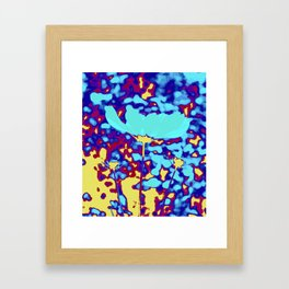 magic flower splash Framed Art Print