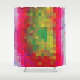 Digital Patchwork: Fuchsia Shower Curtain