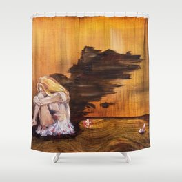 Angel without wings Shower Curtain