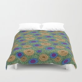 Leafy Green Floral Pattern Duvet Cover