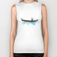boat Biker Tanks featuring Boat by elyinspira