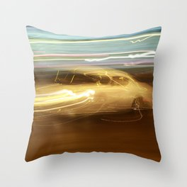 Night Slalom - Lancia Aurelia Throw Pillow