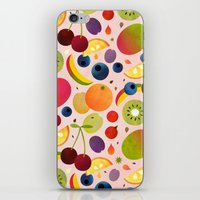 fruit iPhone & iPod Skins featuring Fruit by Malin Koort