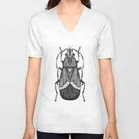 bug V-neck T-shirts featuring Bug by pereverzeva