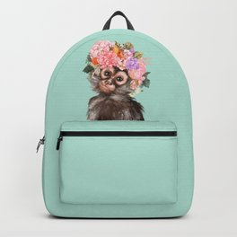 Baby Monkey with Flower Crown Backpack