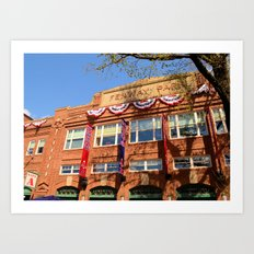 Fenway Spring - Fenway Park in Boston on Opening Day, Red Sox Art Print