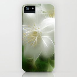White Shiny Jasmine iPhone Case