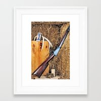 winchester Framed Art Prints featuring Winchester Rifle by Captive Images Photography