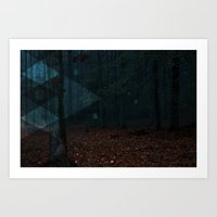 Into The Woods... (w/o text) Art Print