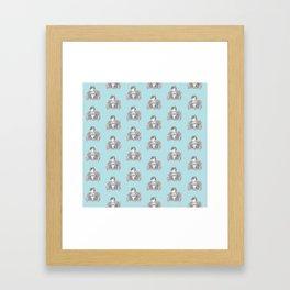 Sulky Sherlock - Turqoise Framed Art Print