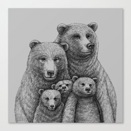 Family photo (mr. Bear) Canvas Print