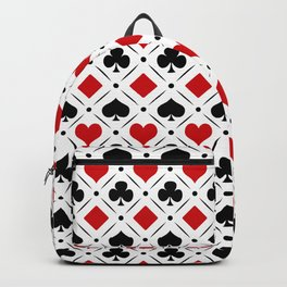 Playing card suits symbols Backpack