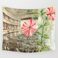 theatre Wall Tapestries featuring A Night At The Theatre by Aimee Stewart